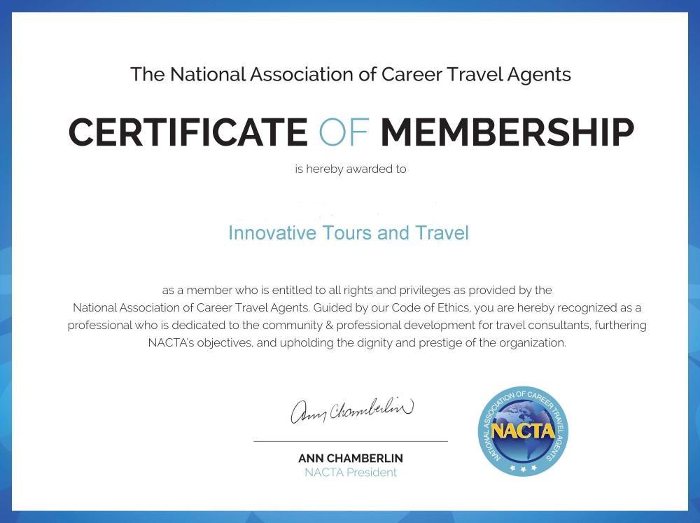 NACTA membercertif