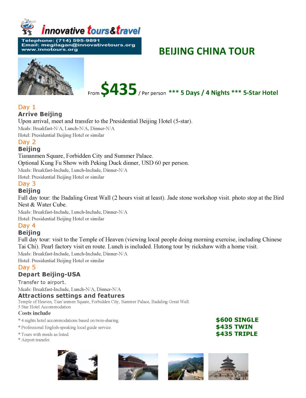 Beijing China_5D4N