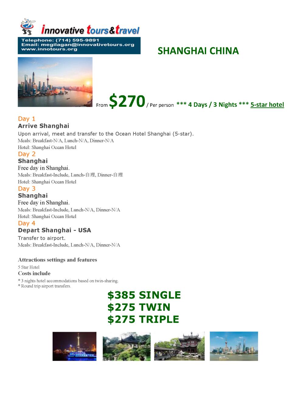 Shanghai China_4D3N